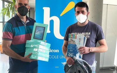 Hélicon dona todo su crédito de Amazon a su escuelita apadrinada de Camerún